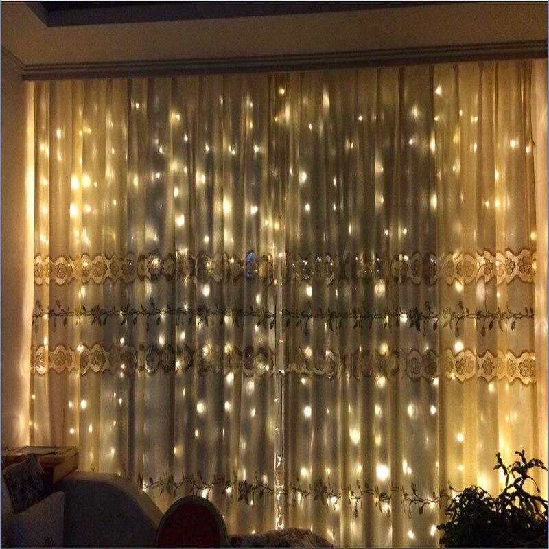 все цены на 3M x 3M 300 LED Wedding Light icicle Christmas Light LED String Fairy Light Bulb Lamp Holiday Garland Party Garden Curtain Decor онлайн