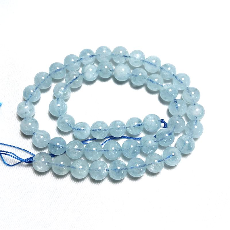 This is a 6mm size natural stone AAAA grade aquamarine semi finished ball for DIY Bracelet necklace earrings