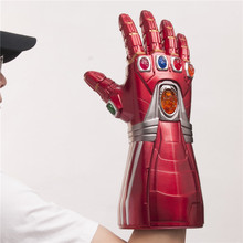 1:1 светодиодный светильник Железный человек танос камень косплей перчатки Тони Старк супергерой косплей реквизит ПВХ подарок для детей