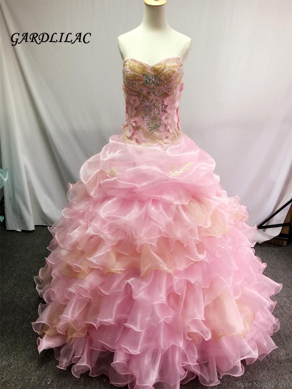 Uued kullake roosad Quinceanera kleidid 2019 palli kleit Kristallhelmed Vestidos De 16 Anos astmelised odavad Quinceanera hommikumantlid