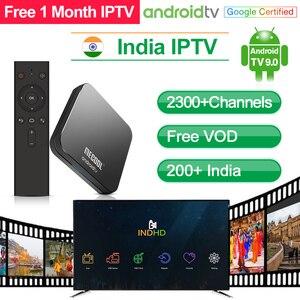 Image 1 - איטליה IPTV תיבת הודו פקיסטן IP טלוויזיה KM9 פרו אנדרואיד טלוויזיה 9.0 חכם טלוויזיה תיבת 4 GB 32 GB פורטוגל ערבית טורקיה הודי IPTV מנוי