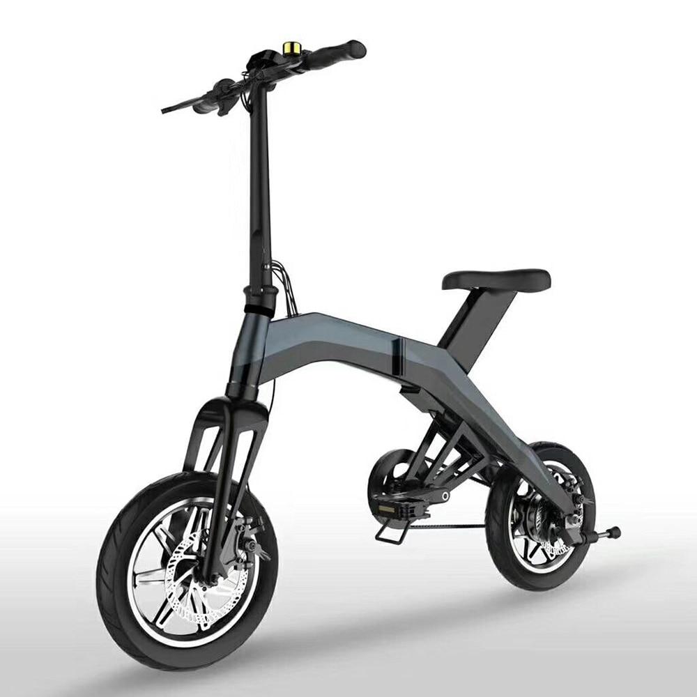 Elektro-scooter Roller 36 V 4/8ah Batterie Export Qualität 350 W Schwarz Rot Falten Elektro-bike Mit Ce Zertifikat Im Sommer KüHl Und Im Winter Warm