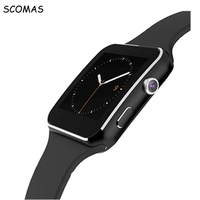 SCOMAS X6 Bluetooth Smart Watch Clock remind smartwatch sport watch For Apple iPhone Android Phone With Camera Support SIM Card