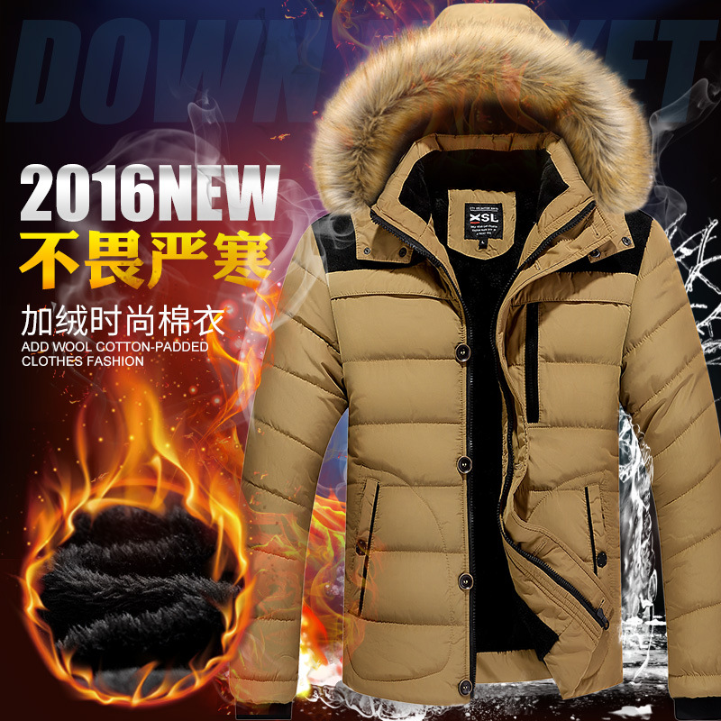 new 2017 winter fleece to keep warm Cotton-padded clothes man with thick cotton-padded jacket ...