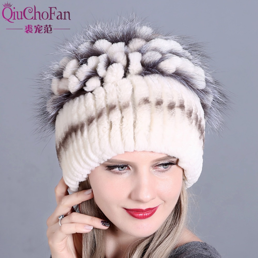 Hat for Women 100% Real Rex Rabbit Fox Fur Hat Rex Rabbit Fur Caps lady winter warm Headwear free shipping Warmer Top Quality new russia fur hat winter boy girl real rex rabbit fur hat children warm kids fur hat women ear bunny fur hat cap