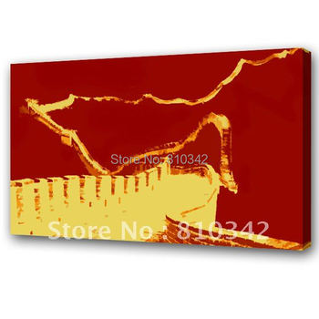 Home decorate  oil painting reproduction chinese art POP the Great Wall