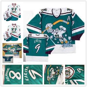 f6525e917 Throwback 1995-96 Mighty Ducks Wild 8 Teemu Selanne 9 Paul Kariya Game Worn  Alternate