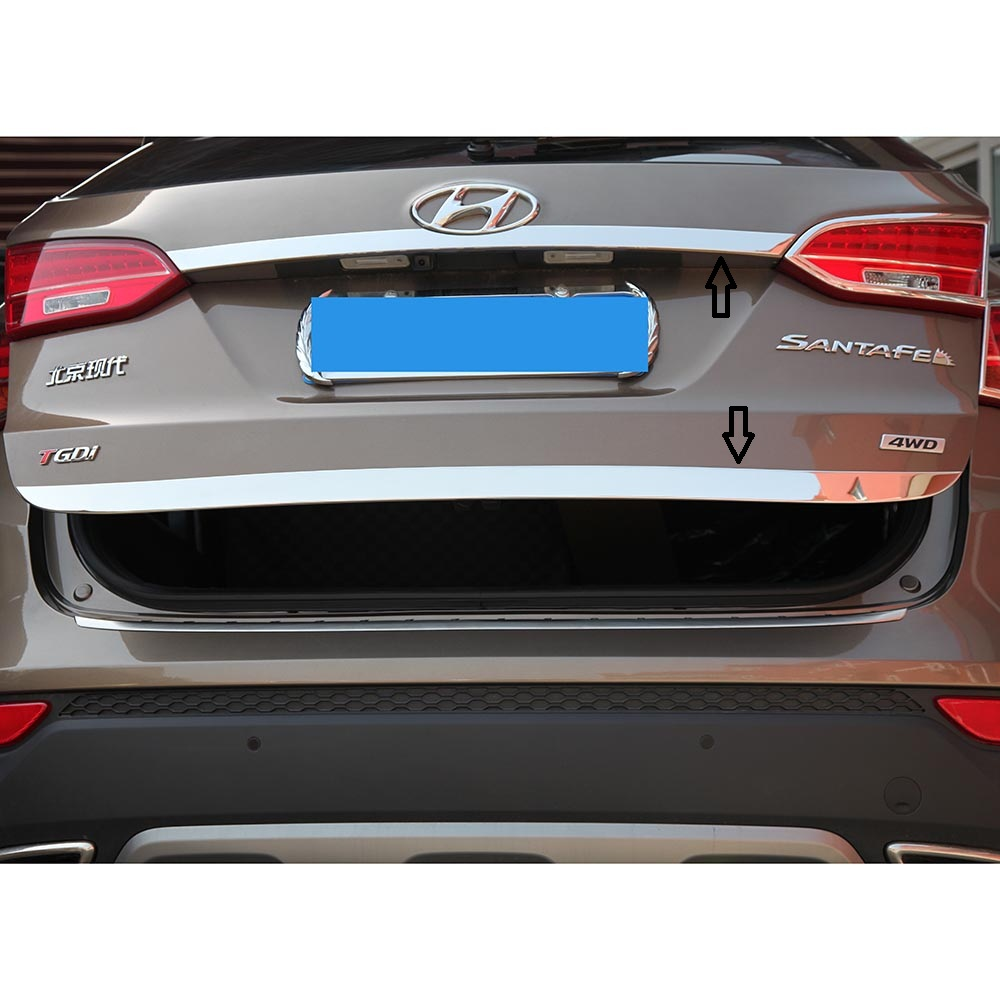 Stainless Steel Accessories Fit For 2013 2014 2015 2016 2017 Hyundai Santa Fe Santafe IX45 rear trunk lid cover trim купить в Москве 2019