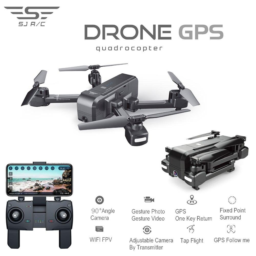 SJRC Z5 Quadrocopter avec HD 720 P/1080 P Caméra GPS Drone 2.4G/5G Wifi FPV maintien d'altitude Suivre Me Mode Dro vs Visuo XS812