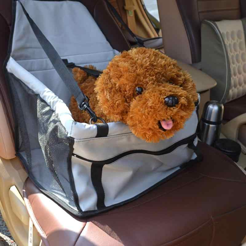 折りたたみペット犬猫のカーシート安全旅行キャリア小屋子犬ハンドバッグペット通気性メッシュ両面安全シートアクセサリー