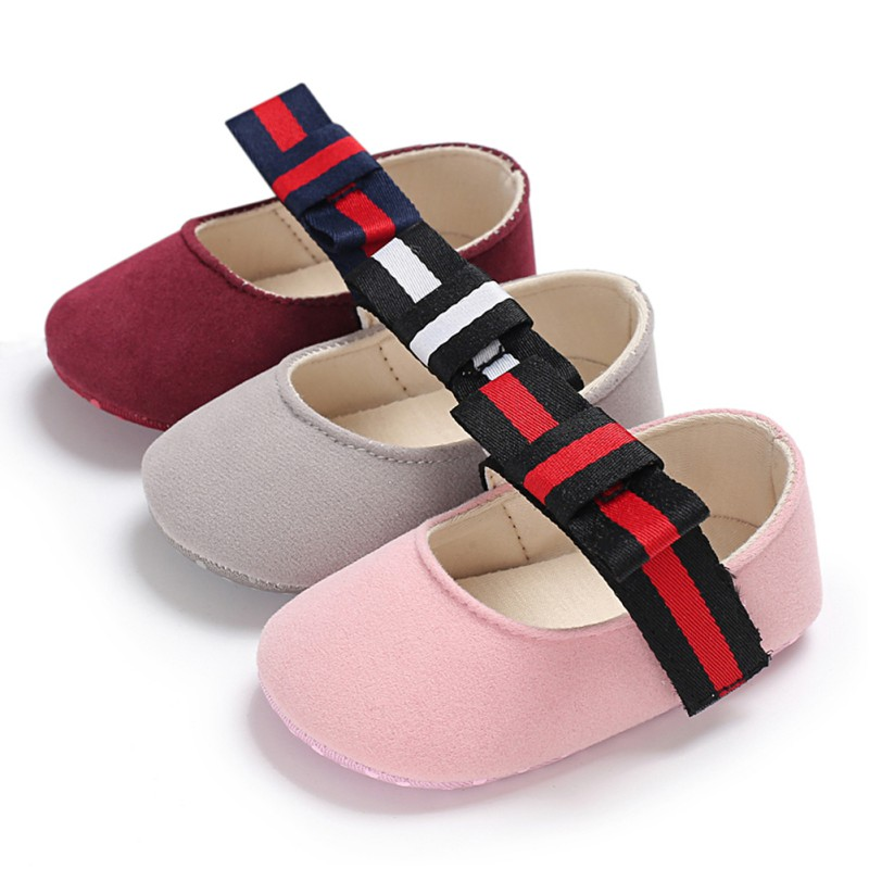 Baby Girl Shoes Flower Bow Glitter Soft Sole Shoes First Walkers Bowknot Toddler Prewalker 0-18M