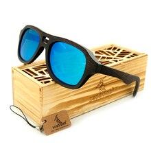 BOBO BIRD New Arrival 2016 Vintage Pilot Wood Sunglasses Mens 100% Natural Bamboo Wood Polarized Eyewear In Gift Box
