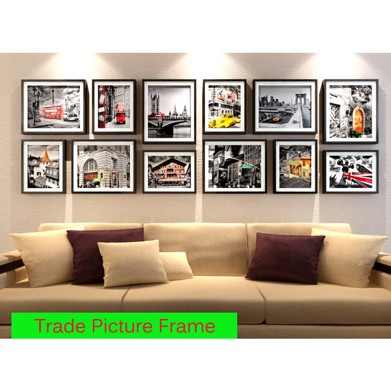 foreign trade big size picture frame composite wall large size frame box selling living room fashion wall hanging box