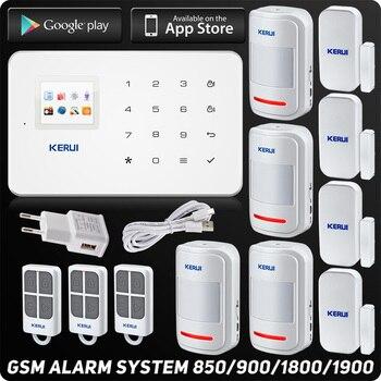 Kerui G18 GSM сигнализация Системы TFT Android IOS APP сенсорной клавиатурой Android ISO приложение умный дом сигнализация Системы DIY движения Сенсор
