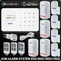 Kerui G18 GSM система домашней сигнализации охранная TFT Android IOS приложение сенсорная клавиатура Умный дом Охранная сигнализация DIY датчик движени...