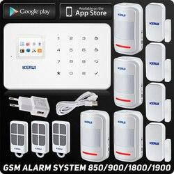 Kerui G18 GSM sistema de alarma para el hogar seguridad TFT Android IOS APP táctil teclado inteligente hogar sistema de alarma antirrobo movimiento DIY sensor
