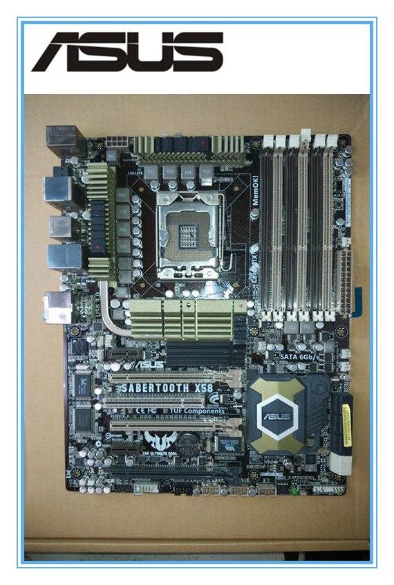 Оригинальный материнская плата Asus Sabertooth X58 LGA 1366 DDR3 для Core i7 Extreme/Core i7 24 ГБ рабочего Материнская плата
