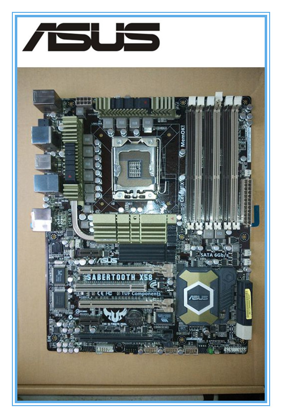 original motherboard ASUS SaberTooth X58 LGA 1366 DDR3 for Core i7 Extreme/Core i7 24GB Desktop motherboard mainboard