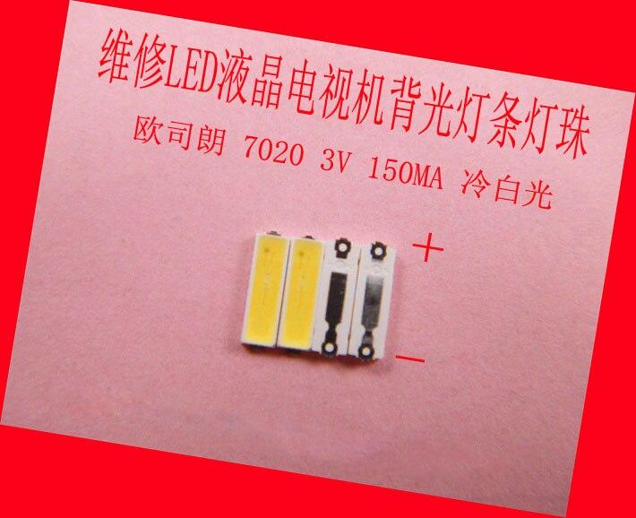 200piece/lot For Maintenance Changhong LCD TV LED Backlight Article Lamp SMD LEDs OSRAM 7020 3V Cold White Light Emitting Diode