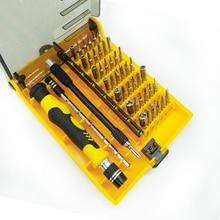 цена на 45 In 1 Screwdriver Set Magnetic Screwdriver Set Precision Screw Driver Tools With Tweezer Hand tools Set Free Shipping
