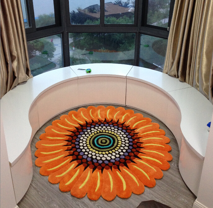 European And American Style Living Room Coffee Table Acrylic Cute Yoga Basket Bedroom Bedside Study Computer Chair Circular Rug In Carpet From Home Garden