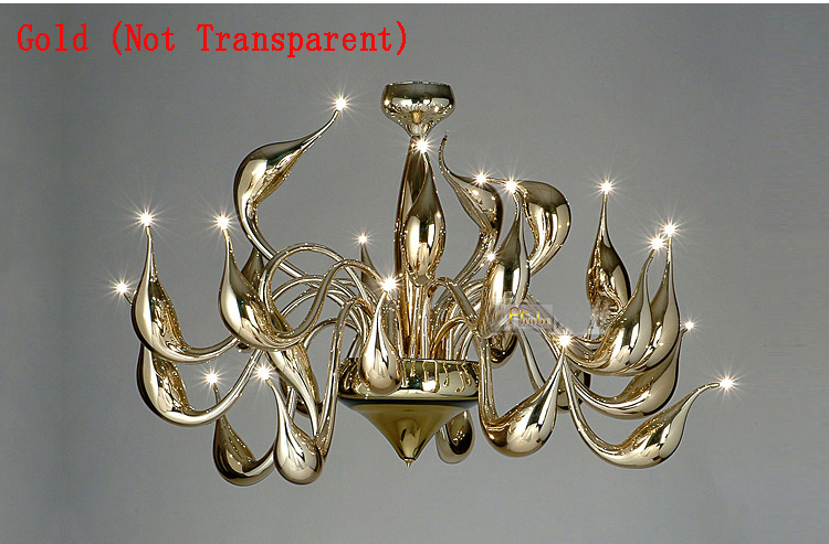 Italy Swan Chandelier Modern Murano Chandeliers Creative Art Glass chandelier Light 24 Head(Gold Not Transparent)Free shipping dale chihuly murano glass handmade blown chandelier italy design hotel decor led chandeliers