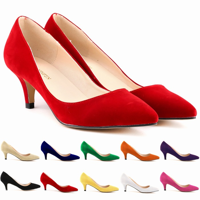 3fca99ad9c2 2014 women flock pumps Pointed toe classic red velvet pumps women s shoes  high heel stiletto shoes zapatos tacon us 4-11