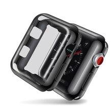 Общий защитный чехол для Apple Watch Series 2/3 TPU мягкая защитная пленка протектор экрана для Apple Watch 38 мм 42 мм