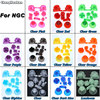 ChengHaoRan Full Set L R ABXY Z Keypads Buttons for GameCube Game  Controller for NGC D Pads Power ON OFF Buttons & Joystick Cap