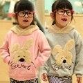 Los niños del conejo de chaquetas de invierno para las niñas sudaderas niños sudaderas con capucha de manga larga de Bebe chaqueta con capucha niño del bebé de la ropa