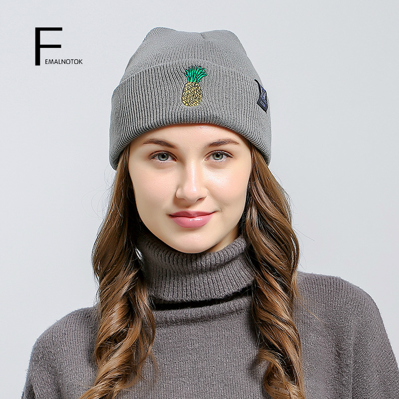 New arrival fashion autumn and winter women hats high quality brand knitted hat casual beanie Skullies fashion printed skullies high quality autumn and winter printed beanie hats for men brand designer hats