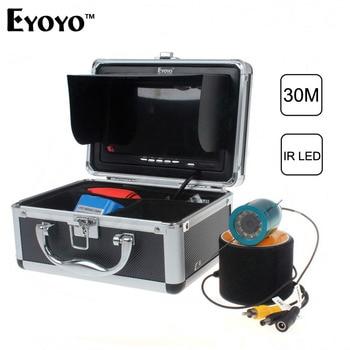 Updated Eyoyo Original 30m Fish Finder Underwater Fishing Video Camera 7 Color HD Monitor 1000TVL HD CAM Light Control Sunvisor EYOYO