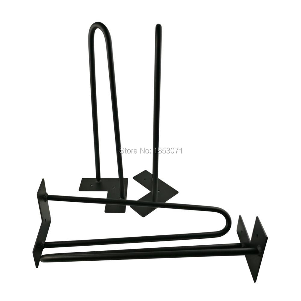 Decorative metal furniture legs - Free Shipping 16 Hairpin Legs Matte Black 2 Rods Set Of