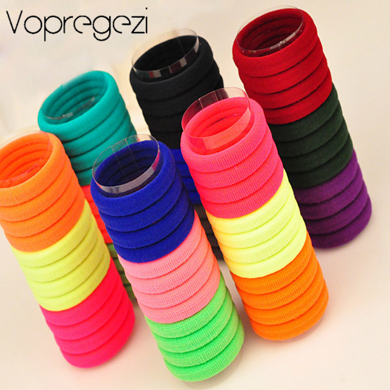 Vopregezi 30pcs Women Hair Band Candy Colored Hair Rope Ring Headwear for Girls Ponytail Holders Rubber Band for Braiding Hair