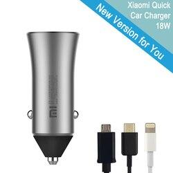 Оригинальный Xiaomi автомобильное Зарядное устройство Dual USB Автомобильное-Зарядное устройство быстрой зарядки Quick Charge Зарядные устройства дл...