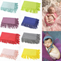 1Pc 8Colors Costume Knit Tassel Wrap Fabric Blanket Rug Baby Photo Prop Newborn Photography