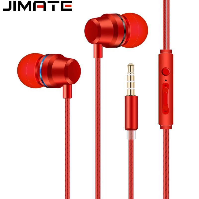 In-ear Earphone Earbuds Stereo Sport Earphones Noise Isolating Headset with Mic for iphone Xiaomi Samsung Mobile phone Universal