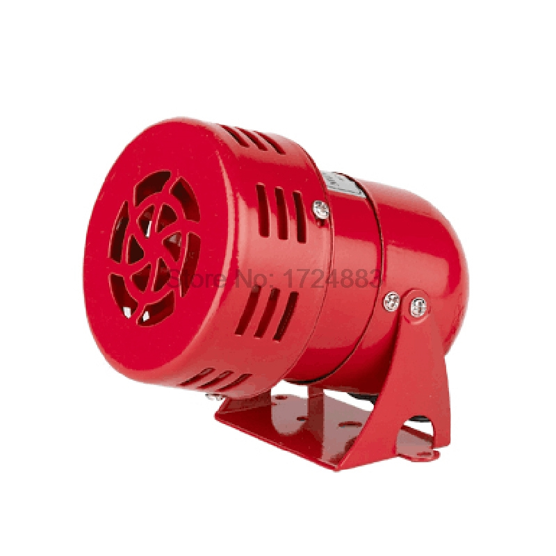 Mini Motor siren MS-190 12V 24V 220V Automotive Air Raid Siren Horn Car Truck Motor Driven Alarm small motor buzzer red high quality 12v 3 automotive air raid siren horn car truck motor driven alarm red siren alarm with retail box