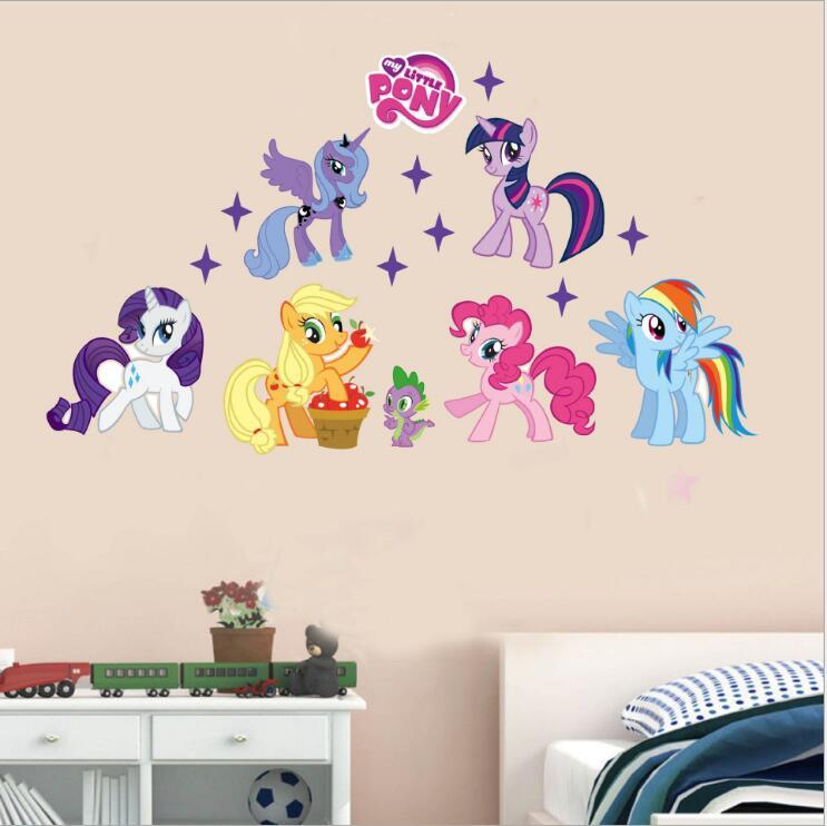 My Little Pony 3d Art Cartton Wall Sticker For Girls Room Beauty
