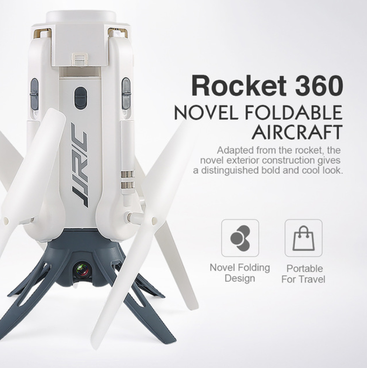 JJR/C JJRC H51 RC Helicopter Rocket-like 360 WIFI FPV Selfie Elfie Drone with Camera HD 720P Altitude Hold RC Quadcopter