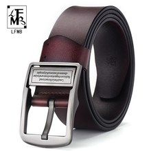 [LFMB]leather belt men cummerbunds male genuine leather strap for ceinture homme Business Male Mens Belt
