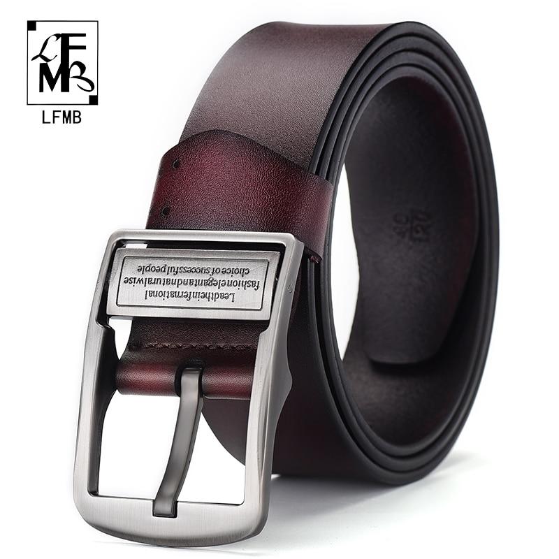 [LFMB]leather belt men cummerbunds male genuine leather strap for ceinture homme Business Male Mens Belt
