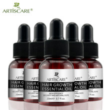 ARTISCARE Hair Growth Essential Oil Hair Care Treatment For Men And Women Hair Loss Essence Liquid Repair Hair Root 20ml 5PCS 6 bottle 600pcs prevent and cure hair loss fo ti root supplement for gray hair promote hair growth hair early white he shou wu