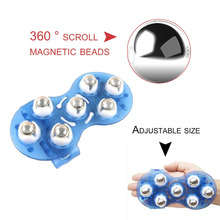 Small Body Massage Glove With 7 Roller Balls Muscle Pain Relief Relax Massager Tool Neck Leg Back Massager Body Health Care