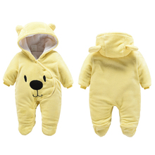 Baby Rompers Winter Baby Boy girls Clothes Flannel Newborn toddler Clothes Infant Jumpsuits new born warm clothing Cartoon