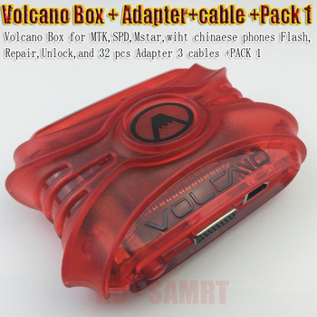 latest Volcano Box with activated Pack 1  For CPU  Unlock Flash & Repair + 28 pcs adapter 3 cables box