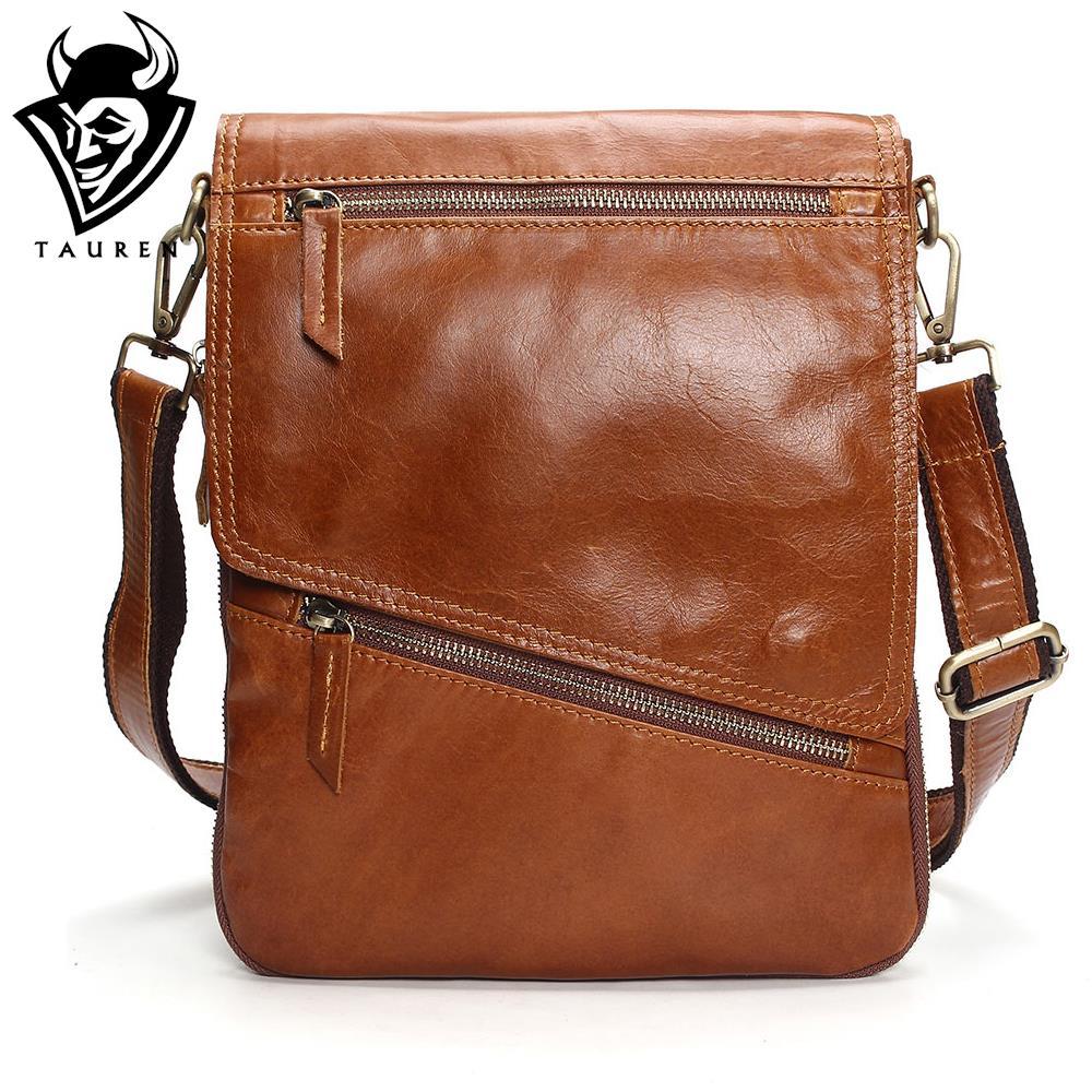 Tauren Burglarproof Buckle Small Mens Crossbody Bag Personality Oblique Flap Cool Men Messenger Bag Sling Shoulder Bag Male