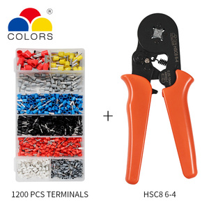 Image 4 - Adjustable Terminal Crimping Pliers Automatic Cable Wire Stripper Stripping Crimper Tool with 1200 Terminals Kit