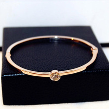 Rose gold-color simple zircon bracelet women bijoux new fashion jewelry wholesale bracelets & bangles fine quality gift