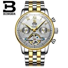Switzerland Binger Watches Top Brand Luxury Men Sports Watches Military Wristwatches Casual Full Steel Watch Waterproof Relogio